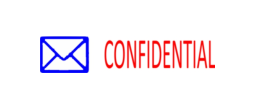 "Confidential Two-Color Stock Stamp 1/2"" x 1-5/8"""