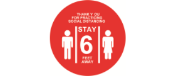 PACKAGE OF 3 10 INCH ROUND FLOOR DECALS FOR SHOWING PEOPLE WHERE YOU WISH THEM TO STAND IN ORDER TO SOCIAL DISTANCE IN YOUR STORE OR ESTABLISHMENT.