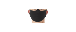 These are very simple face masks.  They are made of t-shirt material with 2-sizes of ear slots on each side.  Throw them in the washer and wear a fresh one each time you go into public.