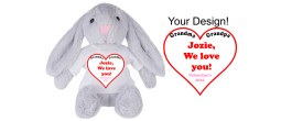 Customize the shirt of these stuffed animals.  Great gifts for Christmas, Valentine's, Easter or birthday.  Great way to show your love. Choice of rabbit, dog or elephant.