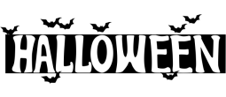 HALLOWEENBATS - Halloween Title with Bats