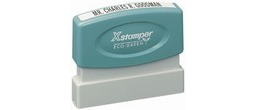 "Xstamper Pre-Inked Single Line Stamp 1/8"" x 2-3/8"" Perfect for email address, web site address, or company name."
