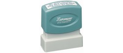 "Xstamper Pre-Inked Stamp 1/2"" x 1-5/8"" This size is great for small return address.  This model is the same size as our stock stamps."