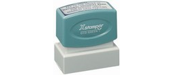 "Xstamper Pre-Inked Stamp 1"" x 2"" This size stamp is good for bank endorsement, larger address stamps, or message stamps."
