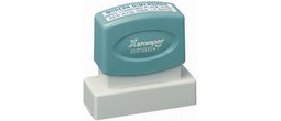 "Xstamper Pre-Inked Stamp 9/16"" x 2"" Can be used as a return address stamp or message stamp."