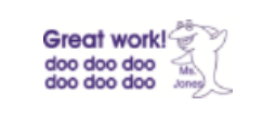 "This is a self-inking .937""X 2.31"" stamp. Choose a stamp, give us your name and get a customized motivational teacher stamp.  Baby Shark doo doo."