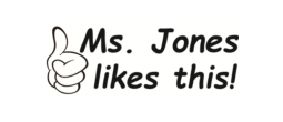 Customized, motivational self-inking teacher stamp.  Self-inking educator stamp.