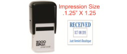 "This dater is smaller and more economical.  It is a printer and is self-inking with a built in pad.  The impression is square- 1.25"" X 1.25"".  It has six years on the bands."