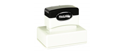 "MaxLight 145 (1.5""  x 2.5"") Pre-inked Stamp.  High quality impression."