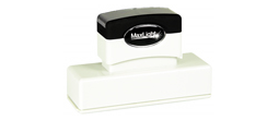 "MaxLight 265(.88"" X3.3125"") Pre-inked Stamp.  High quality impression."