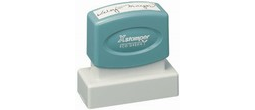 "Xstamper Pre-Inked Stamp 11/16"" x 1-15/16"" Great for return address, or as a message stamp."