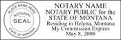 Montana Notary Stamps
