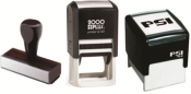 Design address stamp on a preinked stamp.  Creative design completely customizable.